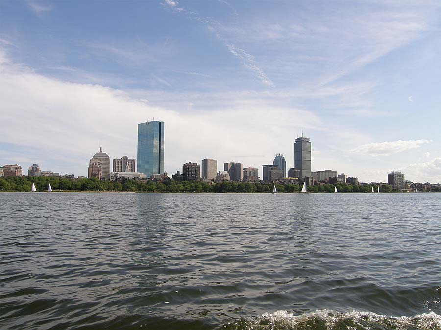 View of Boston from Marina Bay